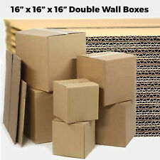 "20 LARGE 16x16x16"" Double Wall Cardboard - Moving House Removal Mailing Boxes"