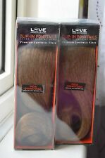 2 x Love Hair Extensions India Drawstring Clip-In Ponytails, MEDIUM ASH BROWN