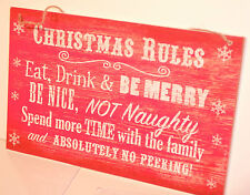 Christmas shabby vintage chic signs,wooden plaque.2 Designs you choose
