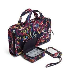 Vera Bradley Midnight Wildflowers 3 piece Travel bundle NWT Free shipping U.S.