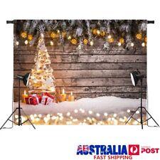 7x5ft Vinyl Snow Christmas Tree Light Photography Background Photo Prop Backdrop