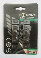 THEMA 990013 Coppia bloccatapparelle serranda saracinesca bronzato 2Pz 9,5x2cm