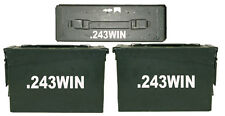 ".243 WIN Ammo Box(decals) Two 8""x1.5 One 4""x0.75"" No Box Included"