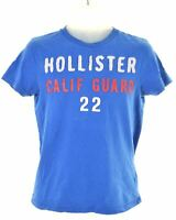 HOLLISTER Mens Graphic T-Shirt Top Small Blue Cotton  MT29