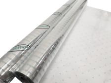 Cellophane Wrap - Silver Dot Christmas Cellophane for Hampers