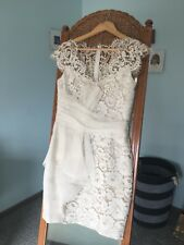 MARCHESA NOTTE size 4 / formal / cocktail / wedding / short cream lace dress