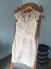 !! MARCHESA NOTTE size 4 / formal / cocktail / wedding / short cream lace dress