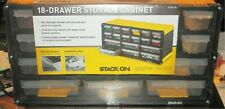 STACK-ON -  18-DRAWER PARTS STORAGE ORGANIZER PLASTIC CABINET SCY-18 - NEW