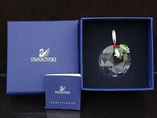 SWAROVSKI CRYSTAL Holly Window Christmas ORNAMENT W/ BOX 9400 000 103 / 870003