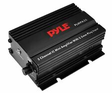 NEW 2 Channel Compact Amplifier.Motorcycle.ATV.off Road Amp.3.5mm input.