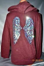 Victorias Secret Supermodel Angel Wing Sequins Bling Classic Zip Hoodie NWT S