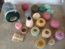 Lot of skeins and partial skeins of crochet & knit yarns and crochet thread!