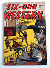 six gun western 3 atlas comics 1957 pres marvel joe maneely gene colan....