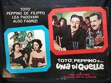 FOTOBUSTA CINEMA - TOTÒ, PEPPINO E UNA DI QUELLE - TOTÒ - 1953 - DRAMMATICO -05