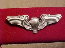 ORIGINAL RARE WWII OR PRIOR BALLOON PILOT WINGS - SNOWFLAKE - PINBACK