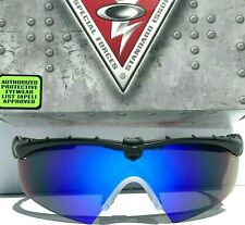 NEW* OAKLEY M frame 2.0 Ballistic Black POLARIZED Galaxy Blue len Sunglass 9046
