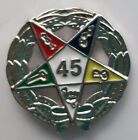 45 YEAR SERVICE AWARD ORDER OF EASTERN STAR  lapel pin silver