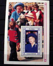 Antigua # 1328. Souvenir Sheet, Queen Mother, 90th Birthday. Mint Never Hinged