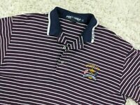 Vintage Ralph Lauren Ryder Cup Golf Polo Shirt Men Small Red White Striped
