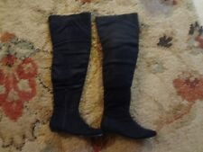 """Ladies Black over the knee/ thigh high boots """"suede like"""" sz 7M pre owned"""