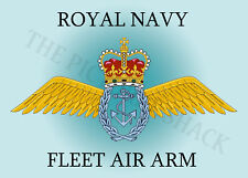 FLEET AIR ARM CREST ON A METAL SIGN 5 x 7 INCHES FITS STANDARD PHOTO FRAME.