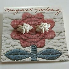 "Margaret Furlong - Bisque Porcelain Earrings - ""Narcissus Bud And Bow"" - New"