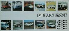 Peugeot tous modèles sales brochure-juillet 1973 inc 504 coupé & cabriolet