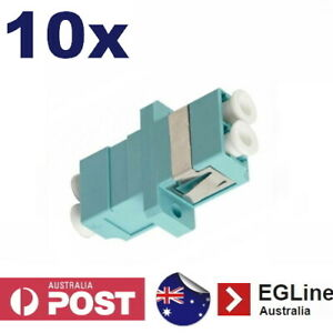 10x Fibre Optic LC connector OM3 Multimode Duplex LC Coupler Joiner