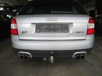 Stoßstange hinten Audi A4 B6 8E lichtsilber LY7W Stoßfänger silber