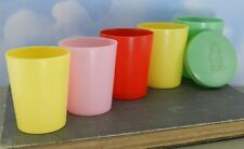 Vintage Hemcoware Elf- Multi-Color Early Plastic Nesting/ Stacking Cups w/ Lid