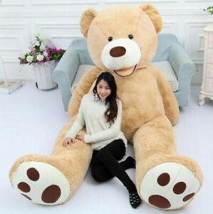 Giant Life Size Teddy Bear Skin Plush Toys Teddy Bear for Girlfriend Gift 130cm