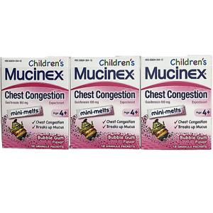 Mucinex Children's Chest Congestion Expectorant Mini-Melts, Bubblegum, 36 ct