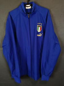 BLUE MEN'S PUMA ITALY ITALIA 2004/2006 JACKET TRAINING SOCCER FOOTBALL SIZE M