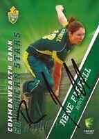 ✺Signed✺ 2015 2016 AUSTRALIAN Cricket Card RENE FARRELL Big Bash League