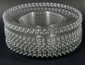 """12-PC VINTAGE IMPERIAL CANDLEWICK CLEAR GLASS DINNER PLATES 10.25"""""""