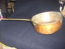 PADELLA IN RAME inizi 1900 stagnata e usata su stufa a legna.