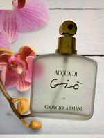 Rare!!! Acqua di Gio Giorgio Armani edt 10 ml left Spray women perfume