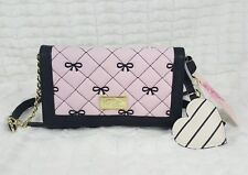 NWT LUV BETSEY BY BETSEY JOHNSON WOMEN PURPLE QUILTED WALLET ON A STRING 2-IN -1