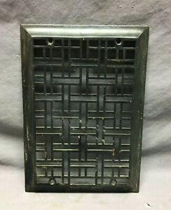One Antique Rectangular 10X14 Heat Grate Grill Decorative Black Cover 637-21B
