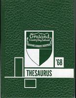 1968 Graland Country Day School Yearbook - Denver, Colorado - Nice Condition