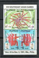 Philippines 1991 XVI Southeast Asian Games Souvenir Sheet - Fine Used