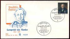 Berlin 1970 Leopold Von Ranke FDC First Day Cover #C34320