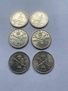 Coins Australian Commemoratine Florins 50% silver