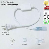 5050 LED strip US Power Plug Cord For AC110V 130V led Strips Rope Fairy Light