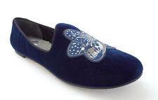 New MARC JACOBS Size 9 Blue Velvet Space Shuttle Slipper Flats Shoes 39 1/2