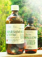 COUGH SYRUP - NATURAL - HERBAL LIQUID  Marshmallow Root, Thyme & Manuka Honey