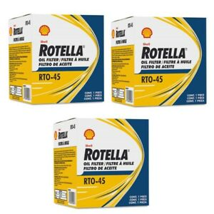 Shell Rotella GMC Chevrolet Engine Oil Filter RTO45 PF1218 PF1218F (Case of 3)