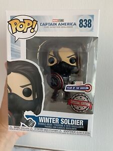 Funko Pop Marvel The Winter Soldier Year Of The Shield Exclusive! Pop Protector
