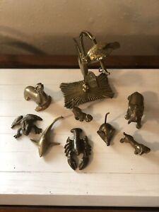 Vintage Brass Modernist Cat Figurine Mid Century Brass Decor Stylized Cat Figurine FREE US SHIPPING