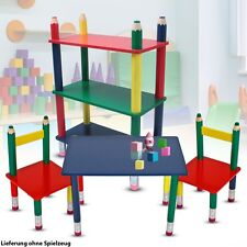 Children's Room Furniture Set Table Group Chairs Coloured Pencils Posture